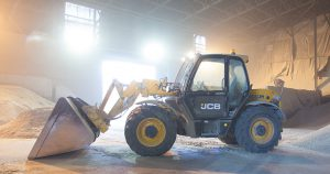 jcb ready to move animal feed for delivery